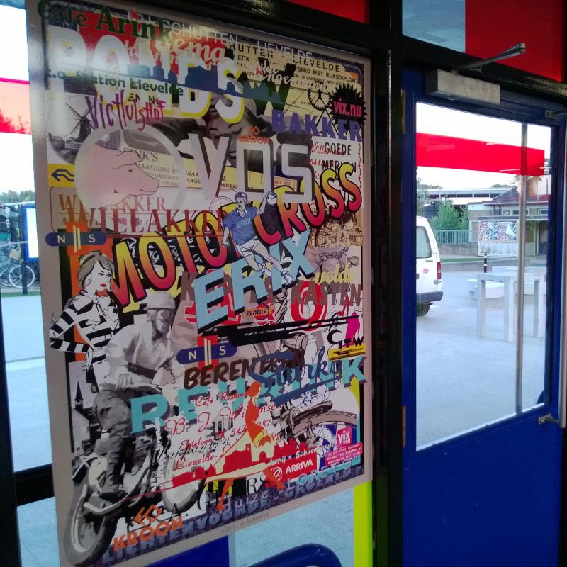 Poster Raamfolie - Station Lievelde - Dekalu