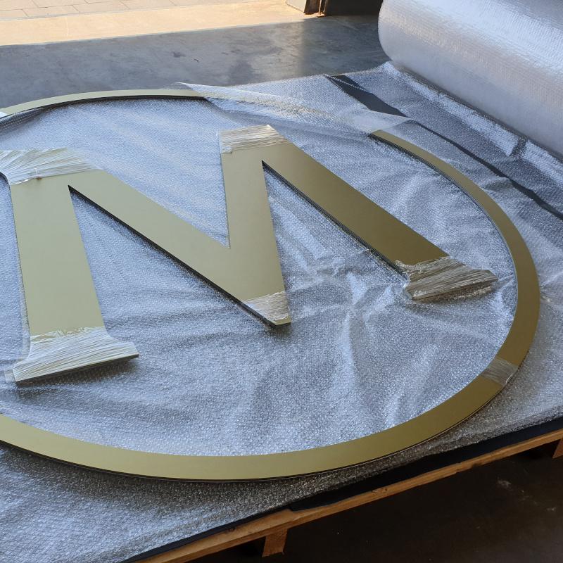 aluminiumsandwichplaat foliedruk freeswerk- beursstand Magnum - Dekalu