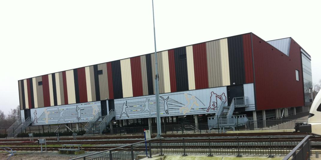 fleetmarking (1) Fleetmaking Sport- en Turnhal Winterswijk Wandbekleding - Dekalu