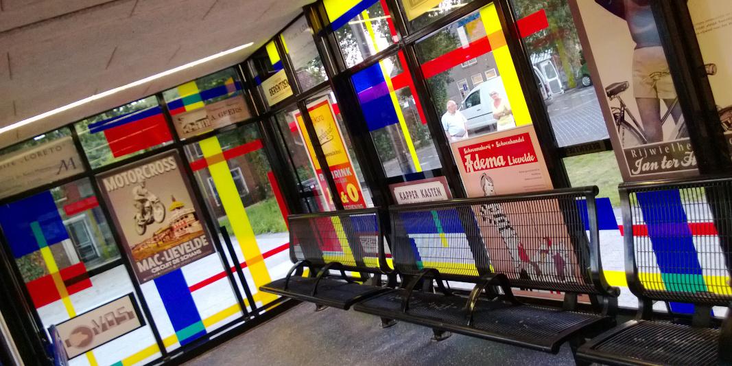 foliedruk glasfolie (1) Raamfolie - Station Lievelde - Dekalu