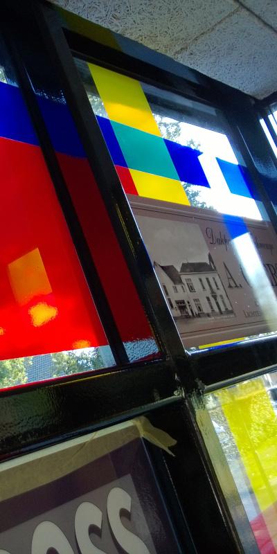 foliedruk glasfolie (2) Raamfolie - Station Lievelde - Dekalu