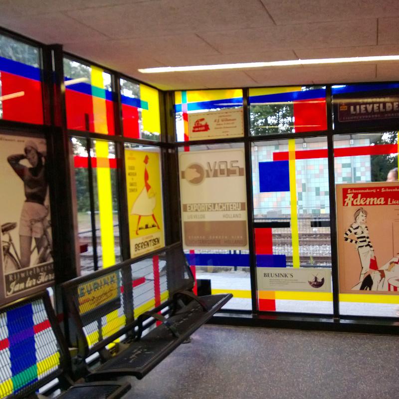 foliedruk glasfolie (4) Raamfolie - Station Lievelde - Dekalu