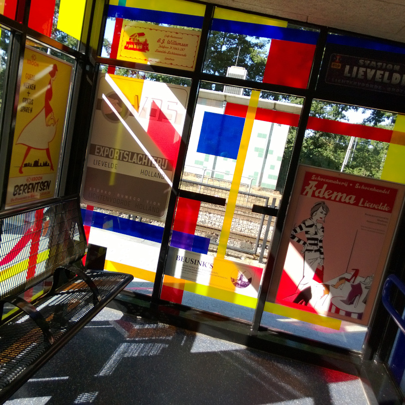 foliedruk glasfolie (6) Raamfolie - Station Lievelde - Dekalu